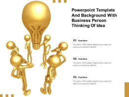 Powerpoint Template And Background With Business Person Thinking Of Idea
