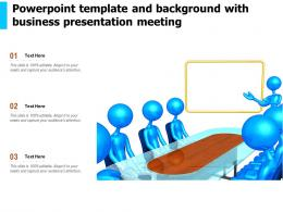 Powerpoint Template And Background With Business Presentation Meeting