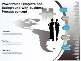 Powerpoint Template And Background With Business Process Concept