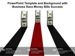 Powerpoint Template And Background With Business Race Money Bills Success