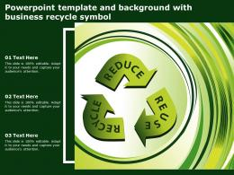 Powerpoint Template And Background With Business Recycle Symbol