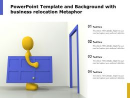 Powerpoint Template And Background With Business Relocation Metaphor