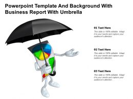 Powerpoint Template And Background With Business Report With Umbrella