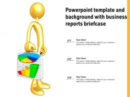 Powerpoint Template And Background With Business Reports Briefcase