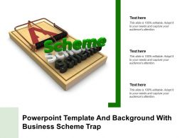 Powerpoint Template And Background With Business Scheme Trap Ppt Powerpoint