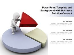 Powerpoint Template And Background With Business Solution Concept