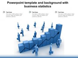 Powerpoint Template And Background With Business Statistics
