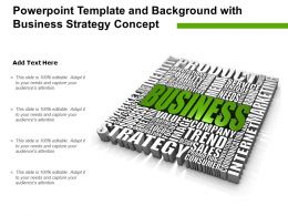 Powerpoint Template And Background With Business Strategy Concept