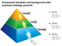 Powerpoint Template And Background With Business Strategy Pyramid