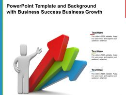 Powerpoint Template And Background With Business Success Business Growth