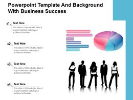 Powerpoint Template And Background With Business Success