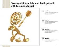 Powerpoint Template And Background With Business Target