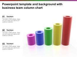 Powerpoint Template And Background With Business Team Column Chart