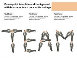 Powerpoint Template And Background With Business Team On A White Collage