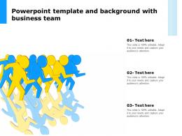 Powerpoint Template And Background With Business Team