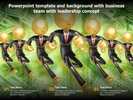 Powerpoint Template And Background With Business Team With Leadership Concept