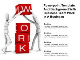 Powerpoint Template And Background With Business Team Work In A Business