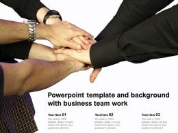 Powerpoint Template And Background With Business Team Work