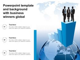 Powerpoint Template And Background With Business Winners Global