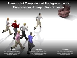 Powerpoint Template And Background With Businessman Competition Success