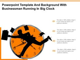 Powerpoint Template And Background With Businessman Running In Big Clock
