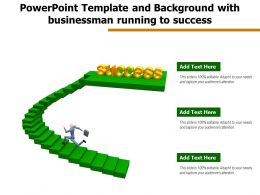 Powerpoint Template And Background With Businessman Running To Success