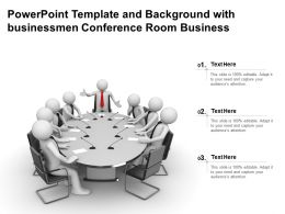 Powerpoint Template And Background With Businessmen Conference Room Business