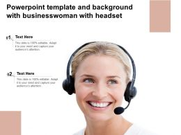 Powerpoint Template And Background With Businesswoman With Headset