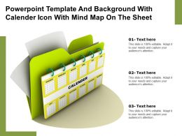 Powerpoint Template And Background With Calender Icon With Mind Map On The Sheet