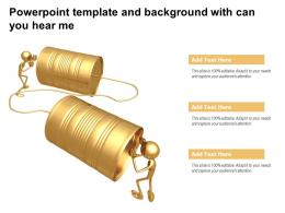 Powerpoint Template And Background With Can You Hear Me