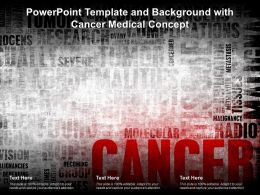 Powerpoint Template And Background With Cancer Medical Concept