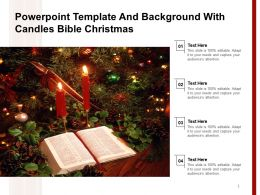 Powerpoint Template And Background With Candles Bible Christmas