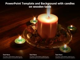 Powerpoint Template And Background With Candles On Wooden Table