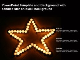 Powerpoint Template And Background With Candles Star On Black Background