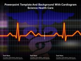 Powerpoint Template And Background With Cardiogram Science Health Care