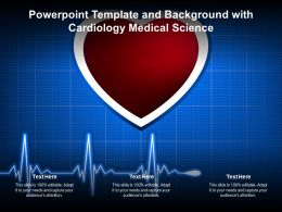 Powerpoint Template And Background With Cardiology Medical Science