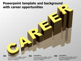 Powerpoint Template And Background With Career Opportunities