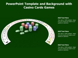 Powerpoint Template And Background With Casino Cards Games
