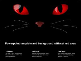 Powerpoint Template And Background With Cat Red Eyes