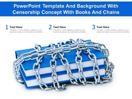Powerpoint Template And Background With Censorship Concept With Books And Chains