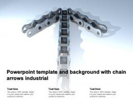 Powerpoint Template And Background With Chain Arrows Industrial