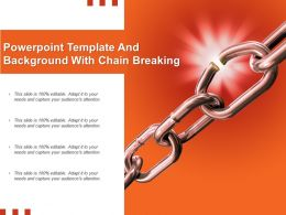Powerpoint Template And Background With Chain Breaking