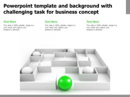 Powerpoint Template And Background With Challenging Task For Business
