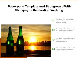 Powerpoint Template And Background With Champagne Celebration Wedding