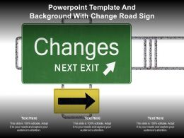 Powerpoint Template And Background With Change Road Sign