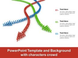 Powerpoint Template And Background With Characters Crowd