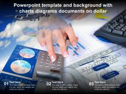 Powerpoint Template And Background With Charts Diagrams Documents On Dollar