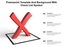 Powerpoint Template And Background With Check List Symbol