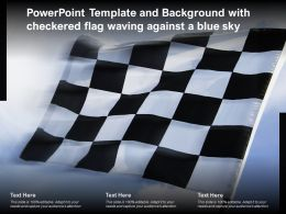 Powerpoint Template And Background With Checkered Flag Waving Against A Blue Sky