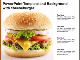 Powerpoint Template And Background With Cheeseburger